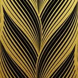Modèle de vagues abstrait éclatant d'or Illustration Stock