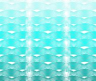 Modèle de vagues sinueux Photos libres de droits