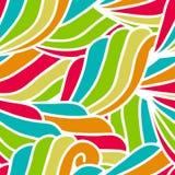 Modèle de vagues tiré par la main abstrait, backgr floral sans couture de vecteur Photographie stock