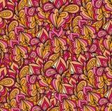 Modèle de vagues tiré par la main abstrait, floral onduleux Photo stock