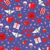 Modèle de Valentine sur le bleu Images libres de droits