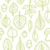 Modèle de vecteur avec des feuilles Ornement sans couture d'automne Fond de saison d'automne illustration libre de droits