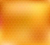 Modèle de vecteur avec des nids d'abeilles Image libre de droits