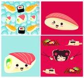 Modèle de vecteur avec des sushi Photographie stock libre de droits