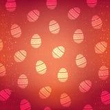 Modèle de vecteur avec les oeufs décoratifs Fond de rouge de vacances de Pâques Image libre de droits