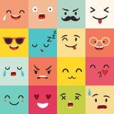 Modèle de vecteur d'émoticônes Icônes de place d'Emoji Photographie stock