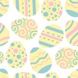 Modèle de vecteur d'oeufs de pâques Illustration pour Pâques Vacances de religion de tradition illustration de vecteur
