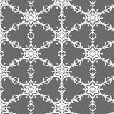 Modèle de vecteur de flocon de neige sur le gris illustration stock