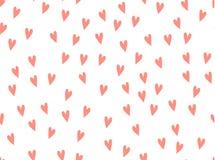Modèle de vecteur de fond de coeurs Griffonnage de rose de griffonnage Symbole de la texture rouge d'amour sans couture illustration libre de droits