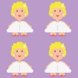 Modèle de vecteur de jeune mariée de Pixelated Images stock