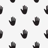 Modèle de vecteur des mains noires Photo stock