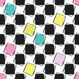 Modèle de vecteur de Memphis Style Geometric Abstract Seamless illustration libre de droits