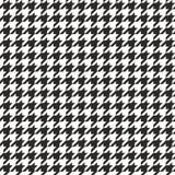 Modèle de vecteur sans couture de pied-de-poule ou fond noir et blanc de tuile Image libre de droits