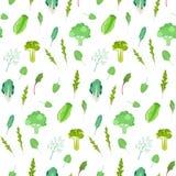 Modèle de verts de salade et de légumes feuillus Photographie stock libre de droits