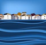 Modèle de ville de 02 Espagne Image libre de droits