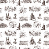 Modèle de vin de raisin Photographie stock libre de droits