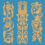Modèle de vintage, éléments décoratifs Image stock