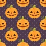 Modèle de vintage avec des potirons pour Halloween Photos libres de droits