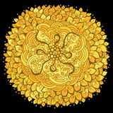 Modèle de vintage de vecteur dans le style oriental fleuri Photos libres de droits