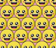 Modèle de visage de sourire avec des smiley colorés Sourit le fond d'icône illustration libre de droits