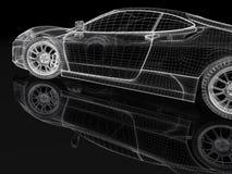Modèle de voiture de sport illustration libre de droits