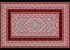 Modèle de withde tapis des roses roses Image libre de droits