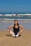 Modèle de yoga Photo libre de droits