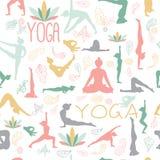 Modèle de yoga Images stock