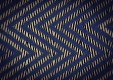 Modèle de zigzag bleu noir abstrait Photos libres de droits