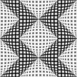Modèle de zigzag déformé par monochrome sans couture de conception illustration stock