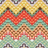 Modèle de zigzag moderne sans couture simple de chevron Images stock