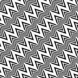 Modèle de zigzag monochrome sans couture de conception Photo libre de droits