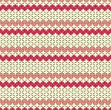 Modèle de zigzag rouge de Horisontal Image stock