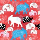 Modèle des éléphants dans les nuages Photographie stock