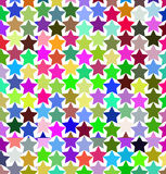 Modèle des étoiles multicolores Photographie stock