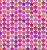 Modèle des étoiles multicolores Photographie stock libre de droits