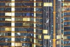 Modèle des bâtiments de Windows Photographie stock libre de droits