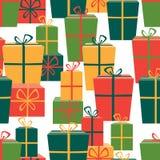 Modèle des boîtes de cadeaux Images stock