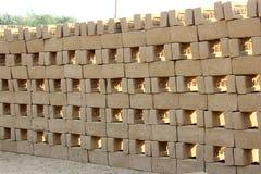 Modèle des briques de boue images libres de droits