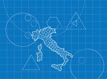 Modèle des cartes de l'Italie Image libre de droits