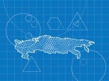Modèle des cartes de la Russie Image stock
