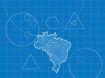 Modèle des cartes du Brésil Images libres de droits