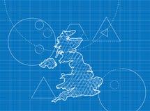 Modèle des cartes du Royaume-Uni Images stock