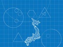 Modèle des cartes japonaises Photographie stock