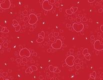 Modèle des coeurs rouges pour le jour du ` s de Valentine Image stock