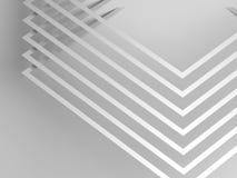 Modèle des coins avec les ombres molles 3d illustration libre de droits