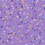 Modèle des confettis colorés sous forme d'étoiles Images libres de droits