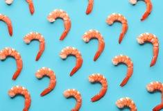 Modèle des crevettes roses bouillies images stock