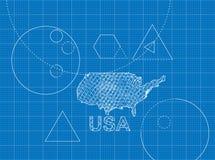 Modèle des Etats-Unis Photographie stock libre de droits