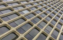 Modèle des fenêtres rectangulaires du bâtiment de local commercial Photo stock